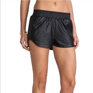 Lovers + Friends Faux Leather Perforated Shorts